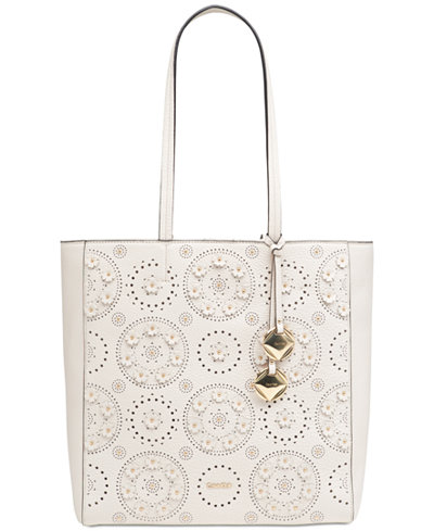 Calvin Klein North South Extra-Large Studded Tote