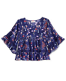 Kandy Kiss Printed Top, Big Girls