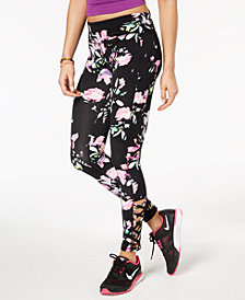 Material Girl Active Juniors' Spring Bloom Caged Leggings, Created for Macy's