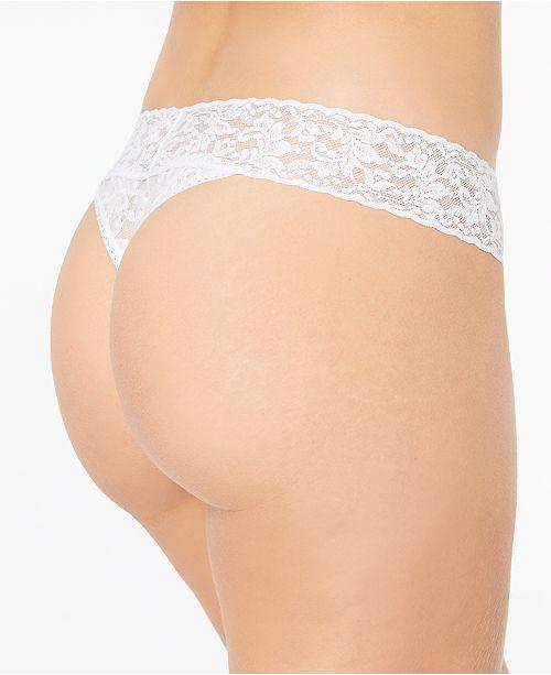 b8c3b69f8479 Hanky Panky Bride & Mrs Signature Lace Original Rise Thong 2-Pack Gift Set  48BRIBX ...