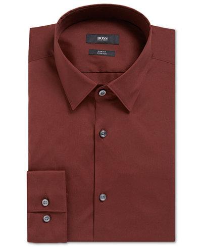 BOSS Men's Slim-Fit Stretch Dress Shirt