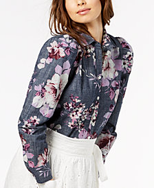 Jill Jill Stuart Cotton Chambray Shirt, Created for Macy's