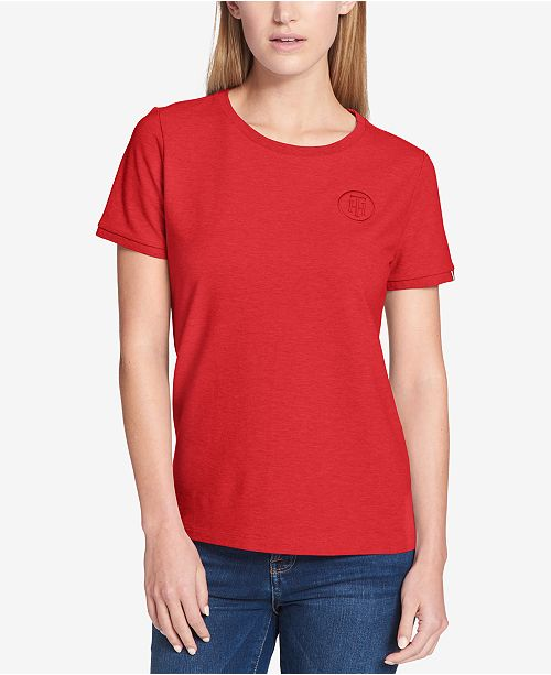 Tommy Hilfiger Embroidered T-Shirt, Created for Macy's