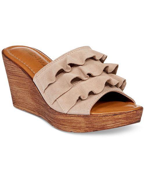 b9d1f786b09c Bella Vita Bey-Italy Wedge Sandals   Reviews - Sandals   Flip Flops ...