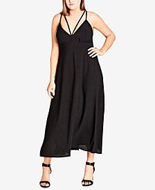 City Chic Trendy Plus Size Strappy Maxi Dress