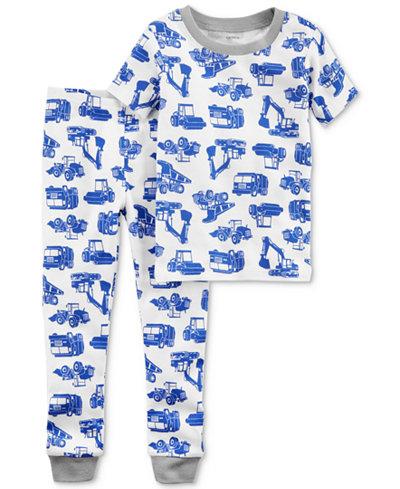 Carter's 2-Pc. Graphic-Print Cotton Pajamas, Baby Boys