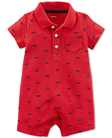 Carter's Car-Print Cotton Romper, Baby Boys