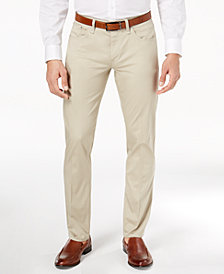 Calvin Klein Men's Classic-Fit Sateen Pants