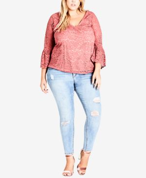 TRENDY PLUS SIZE LACE TOP