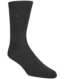Men's Ribbed Crew Socks