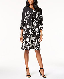 Kasper Floral-Print Topper Jacket & Sheath Dress