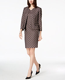 Kasper Bonded Lace Open-Front Blazer & Sheath Dress