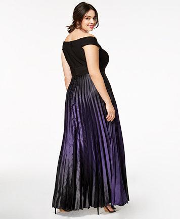 City Chic Trendy Plus Size Passion Ombré Maxi Dress - Dresses ...