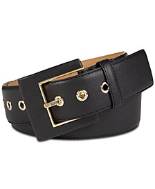 MICHAEL Michael Kors Leather Covered-Buckle Belt