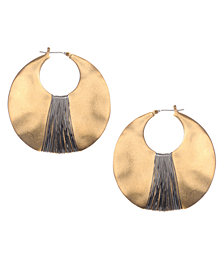 Kenneth Cole New York Earrings, Gold-Tone Shell Drop Hoop