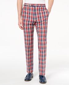Lauren Ralph Lauren Men's Classic-Fit Red Plaid Madras Dress Pants