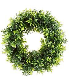 "Pure Garden Faux Opal Basil Leaf 11.5"" Round Wreath"