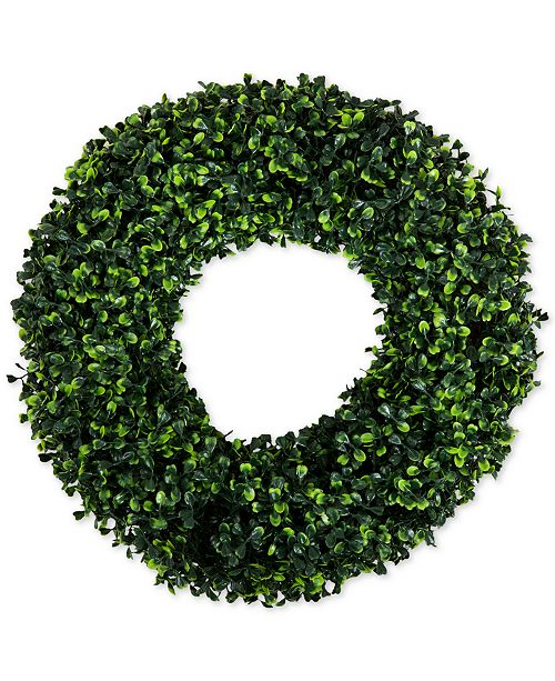 "Trademark Global Pure Garden Faux Boxwood 16.5"" Round Wreath"