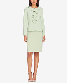 Tahari ASL Ruffled Skirt Suit