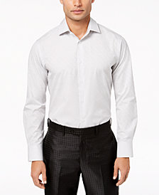 Tallia Men's Modern-Fit Silver Tonal Dot-Print Dress Shirt