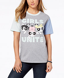 Love Tribe Juniors' Powerpuff Girls Graphic Ringer T-Shirt