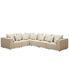 Rainshire 6-Pc. Performance Fabric Modular Sectional, Created For Macy's