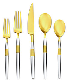 Argent Orfèvres Hampton Forge Marais Partial Gold 5-Pc. Place Setting, Created for Macy's