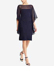 Lauren Ralph Lauren Illusion Draped Dress