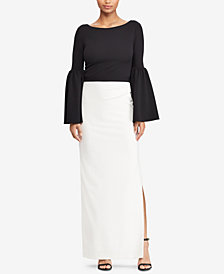 Lauren Ralph Lauren Two-Tone Slim Fit Gown