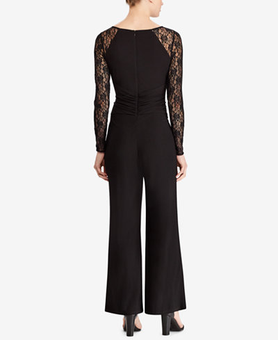 American Living Lace-Sleeve Jumpsuit