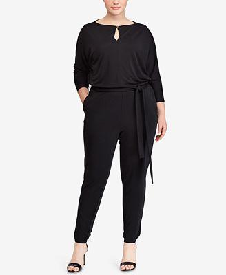 Lauren Ralph Lauren Plus Size Draped Jumpsuit