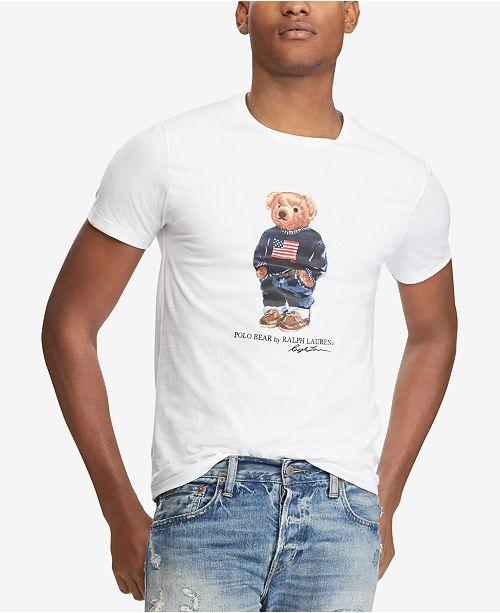 5fa70d5fc Polo Ralph Lauren Men s Custom Slim Fit Polo Bear T-Shirt   Reviews ...