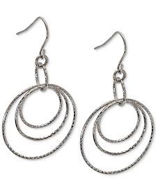 Giani Bernini Triple Hoop Drop Earrings in Sterling Silver, Created for Macy's