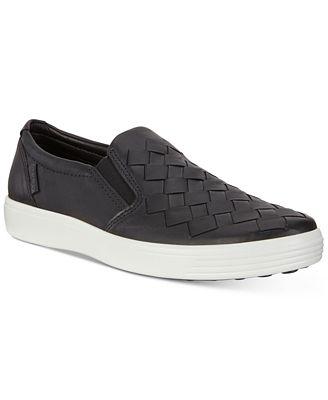 Ecco Men's Soft 7 Woven Slip-On Sneakers