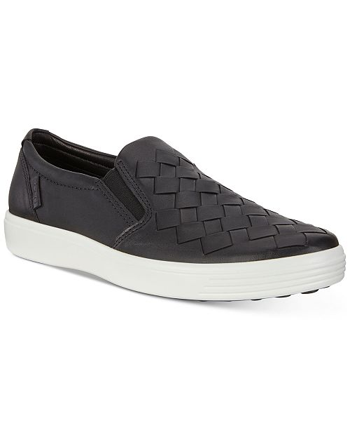 Ecco Men's Soft 7 Woven Slip-On Sneakers