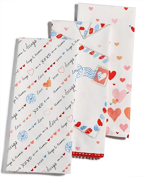 Martha Stewart Kitchen Towels: Martha Stewart Collection Valentine's Day Towels, Created