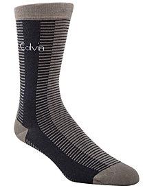 Calvin Klein Men's Striped Dress Socks