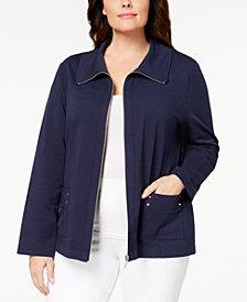 Karen Scott Plus Size Active Jacket, Created for Macy's