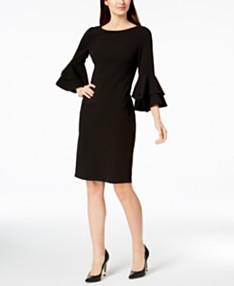 efd1de6ed1 Calvin Klein Tiered-Bell-Sleeve Sheath Dress