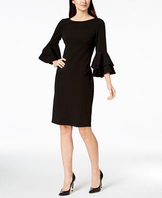 Calvin Klein Tiered Bell Sleeve Sheath Dress Dresses Women Macy S