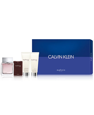 Men's 4 Pc. Euphoria For Men Gift Set by Calvin Klein
