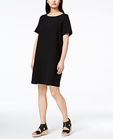 Eileen Fisher Tencel® Textured Knit Shift Dress