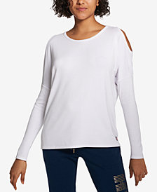 Tommy Hilfiger Sport Cold-Shoulder Top, Created for Macy's