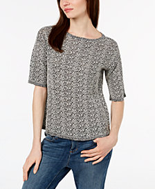 Eileen Fisher Organic Linen Textured Sweater