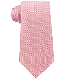 Men's Simple Grid Silk Tie