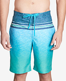 "Calvin Klein Men's Heathered Stripe 21 1/2"" Board Shorts"
