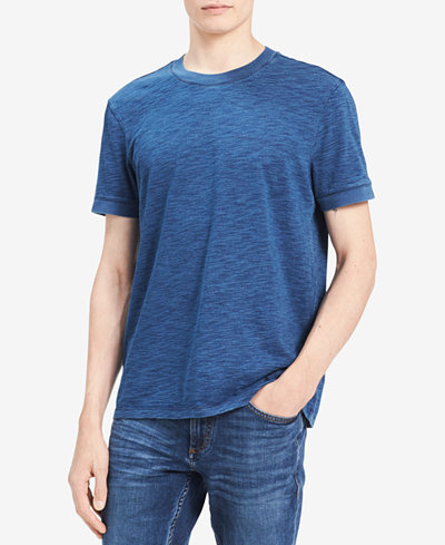 Calvin Klein Jeans Men's True Indigo Textured T-Shirt