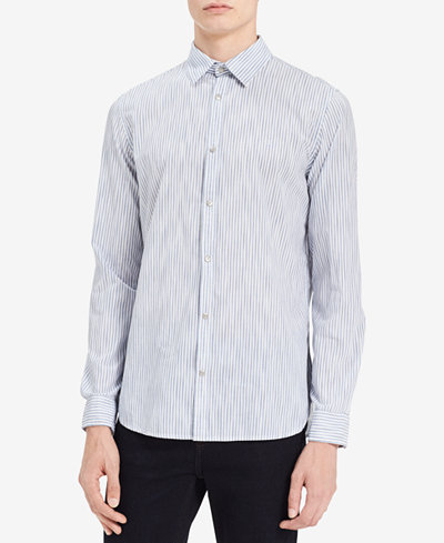 Calvin Klein Jeans Men's Space-Dyed Stripe Banker Shirt
