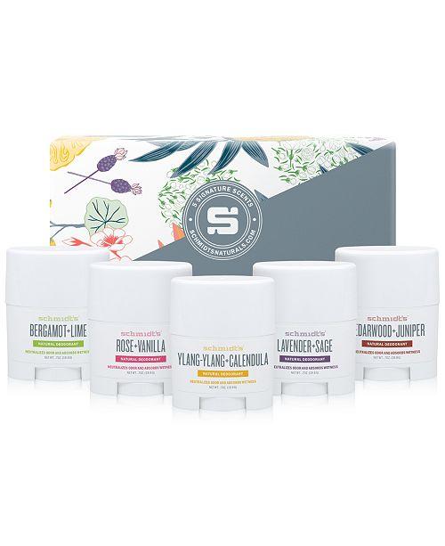 Deodorant 5-Pc  Travel Size Natural Deodorant Set