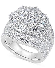Diamond Cluster Ring (4 ct. t.w.) in 14k White Gold